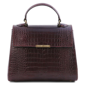 TL Croc-Embossed Top Handle Bag_1