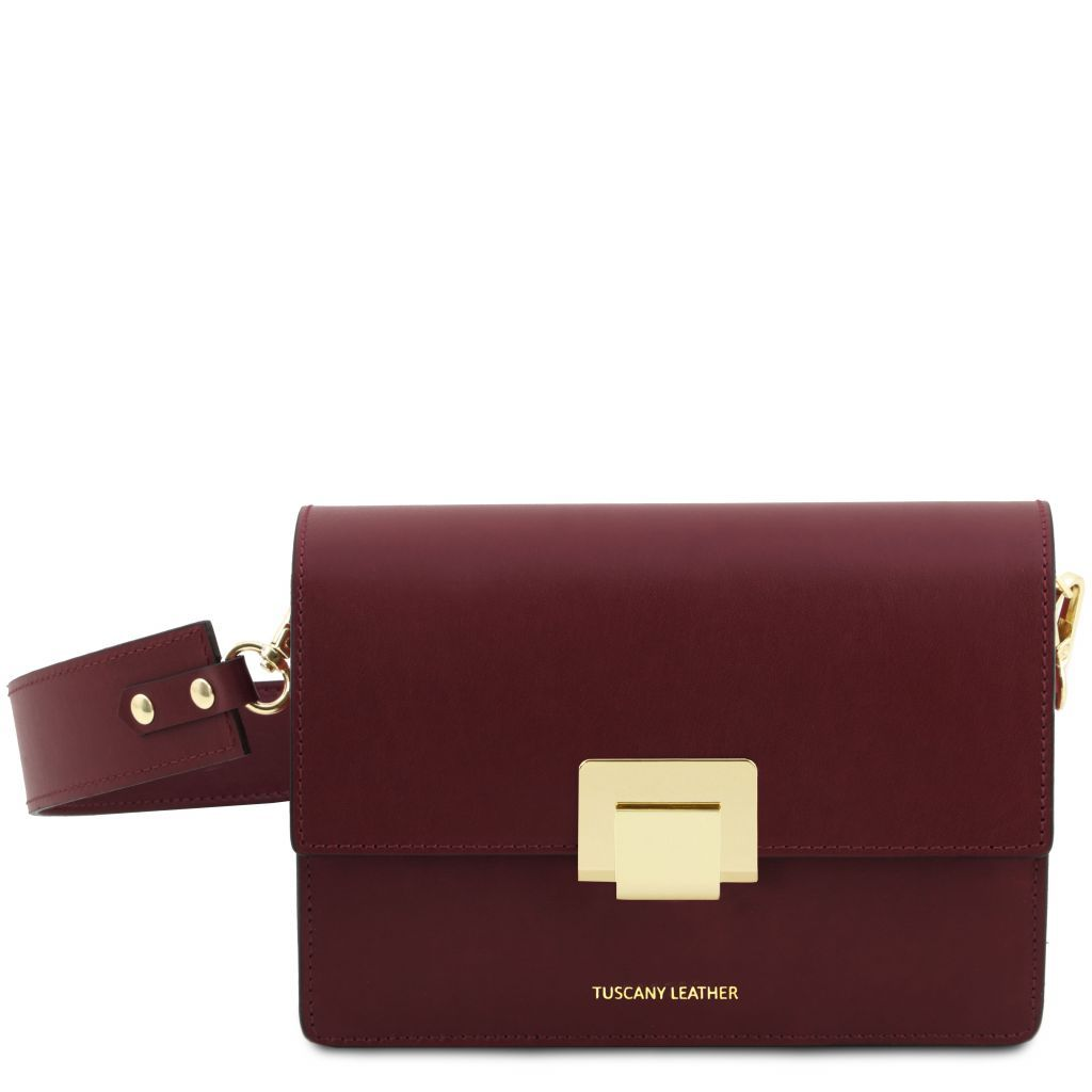 Adele Smooth Leather Clutch_19