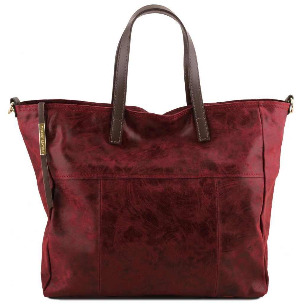 Annie Printed Sued leather TL SMART Tote Bag_31