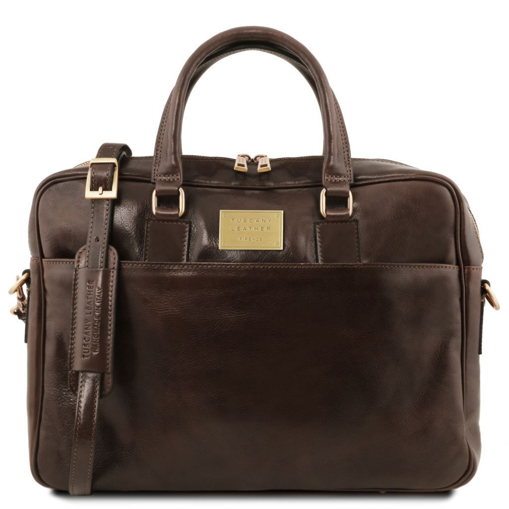 Urbino Vegetable Tanned Leather laptop briefcase_4