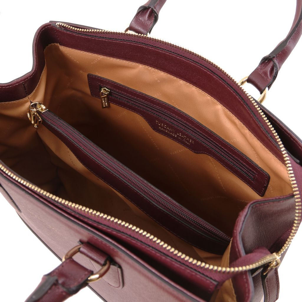 TL Saffiano Leather Satchel _29