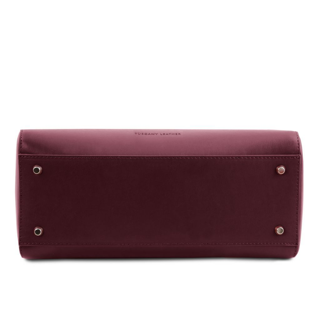 TL Smooth Leather Top Handle Bag_3