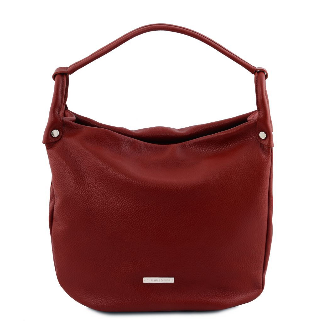 TL Embossed Leather Hobo Bag_3