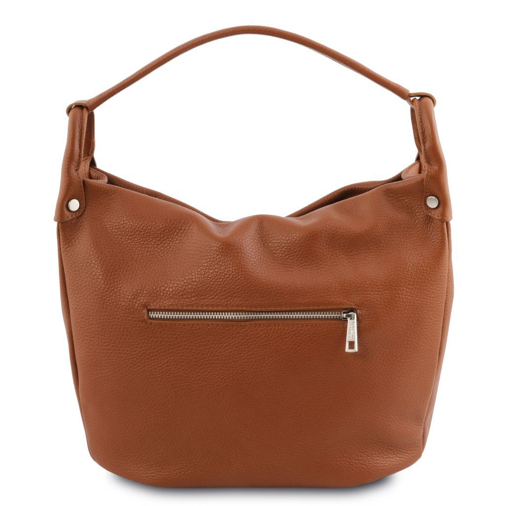 TL Embossed Leather Hobo Bag_6