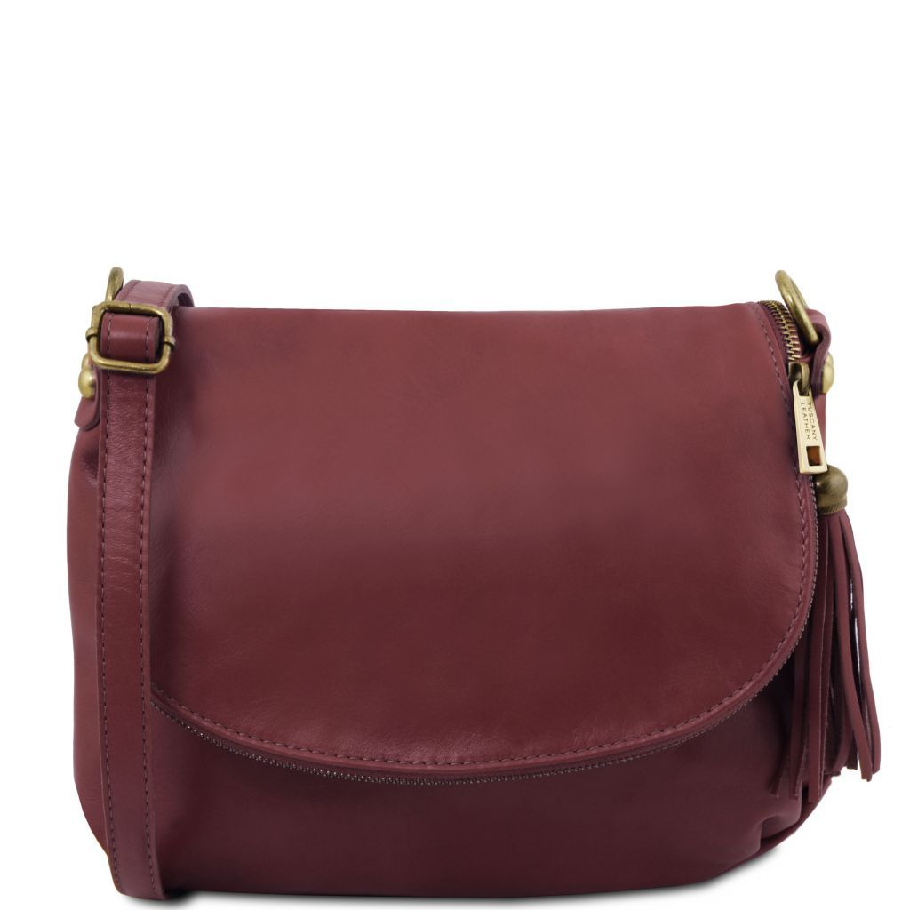 TL Soft Leather Shoulder Bag with Tassel_32
