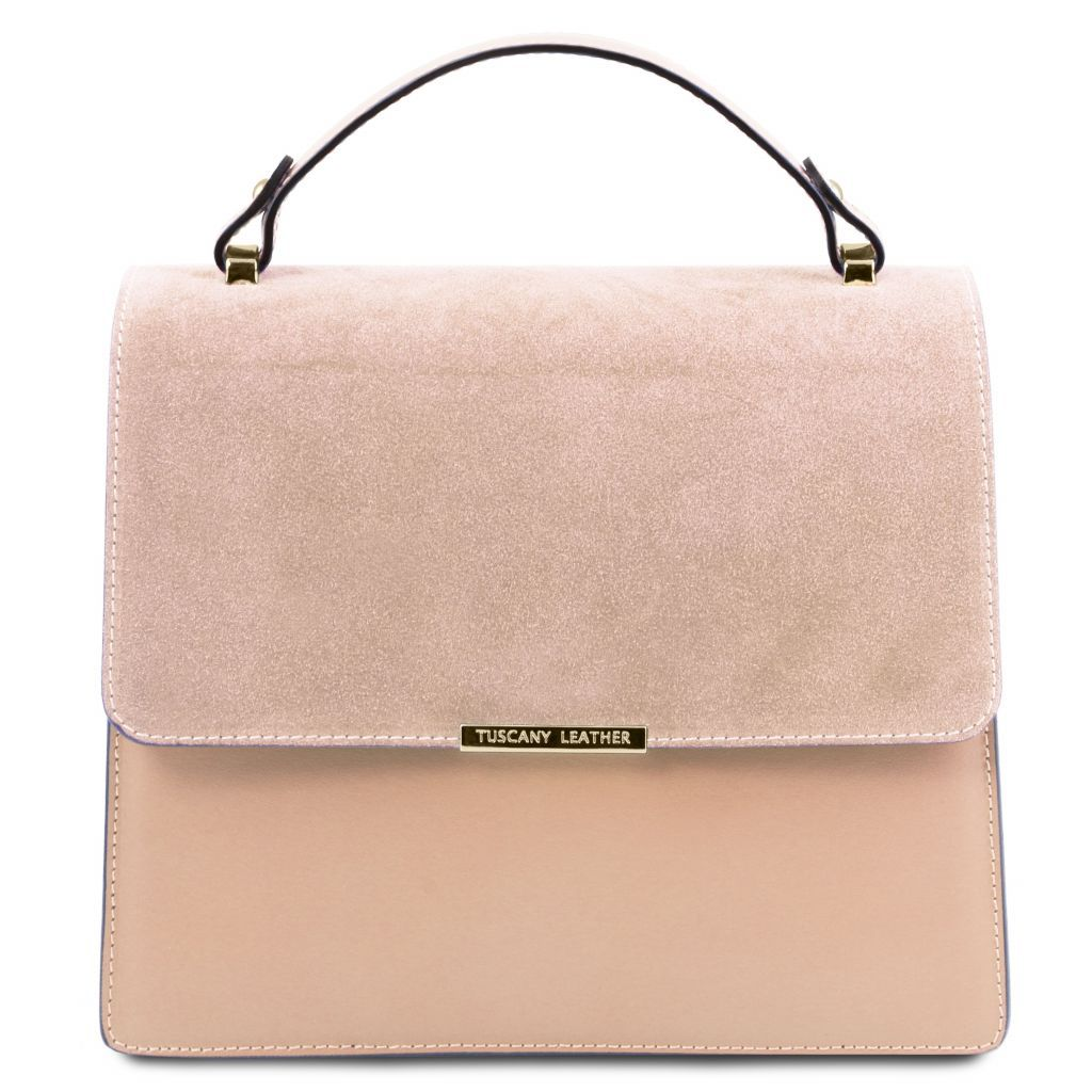 Irene Smooth Leather Top Handle Bag