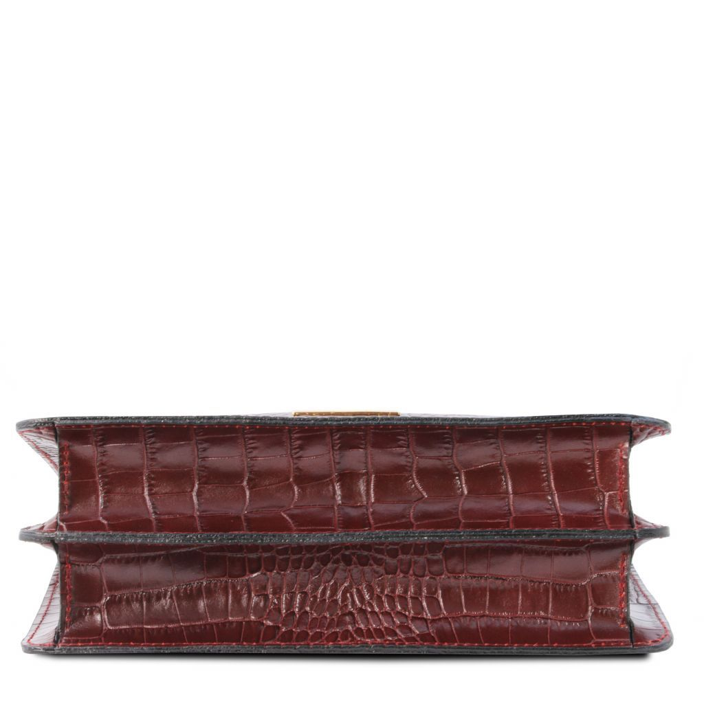 Iris Croc-Embossed Top Handle Bag_18