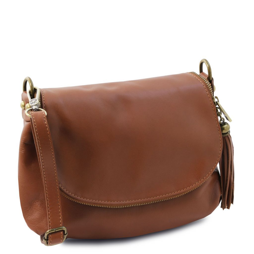 TL Soft Leather Shoulder Bag with Tassel_28