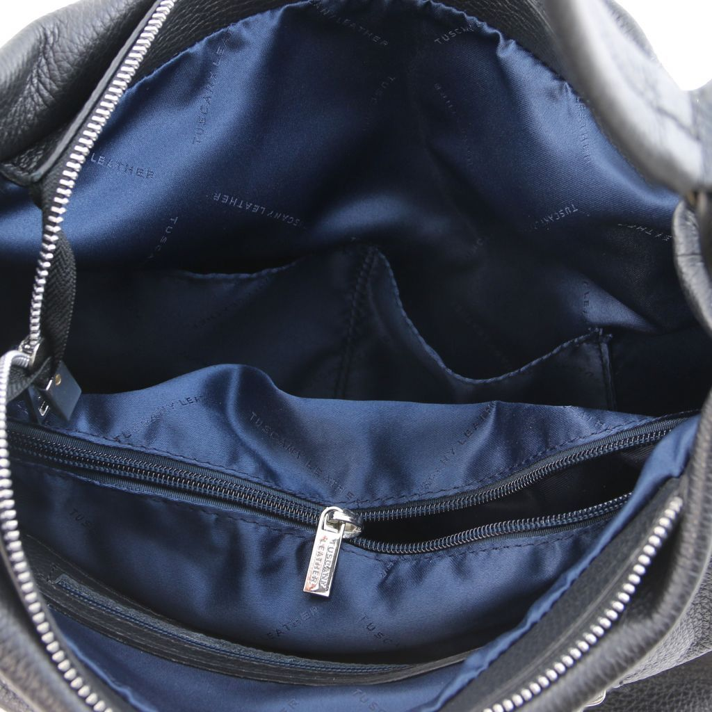 TL Embossed Leather Hobo Bag_15