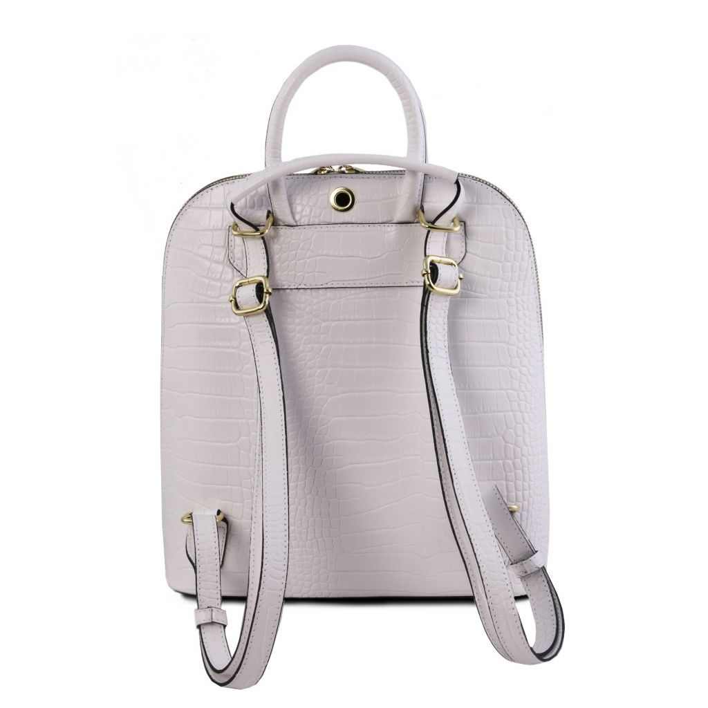 TL Croc-Embossed backpack for women 27