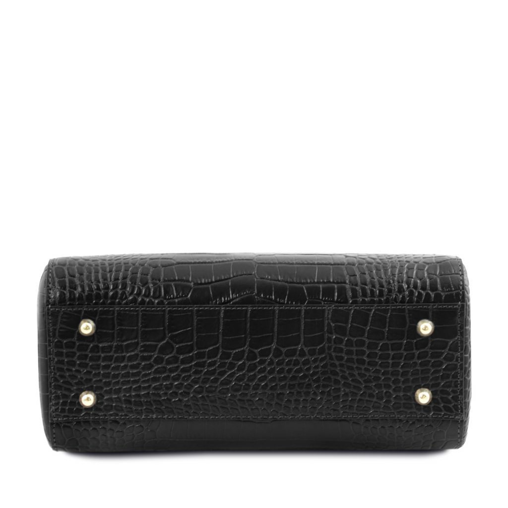 TL Croc-Embossed Top Handle Bag_14