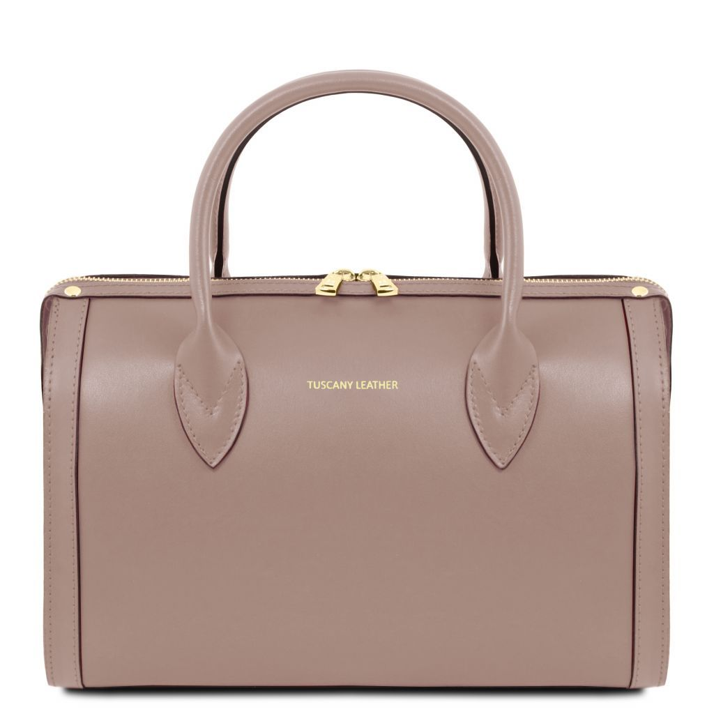 Elena Smooth Leather Boston Bag_19