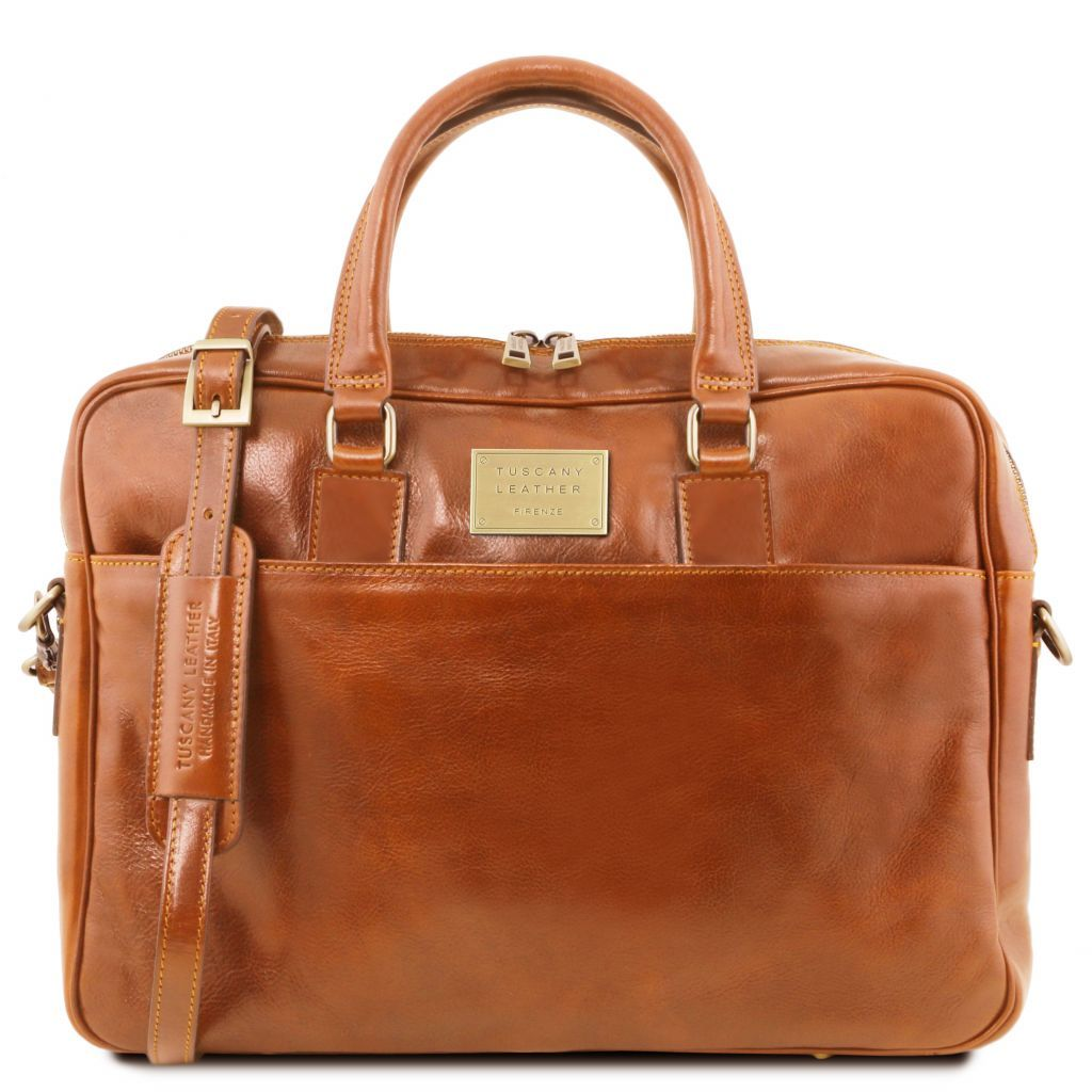 Urbino Vegetable Tanned Leather laptop briefcase_3