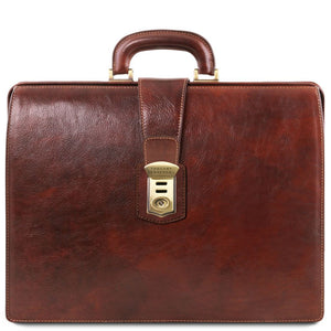 Canova Vegetable Tanned Leather Briefcase 3 compartments_1