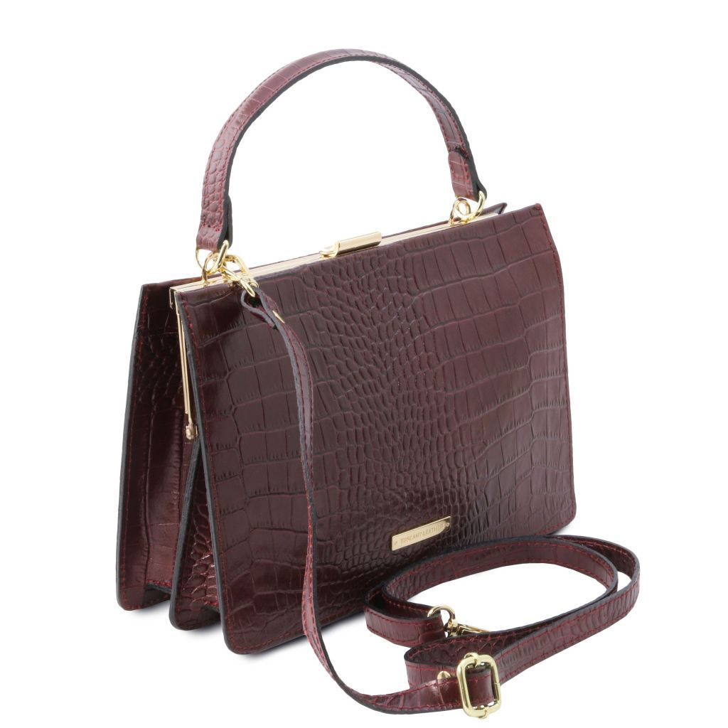 Iris Croc-Embossed Top Handle Bag_17
