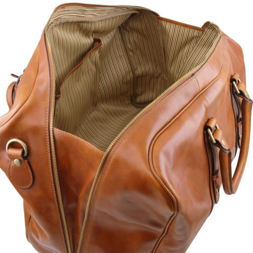 TL Voyager - Leather travel bag with front pocket_6