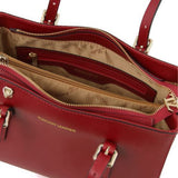 Aura Smooth Leather Satchel_29