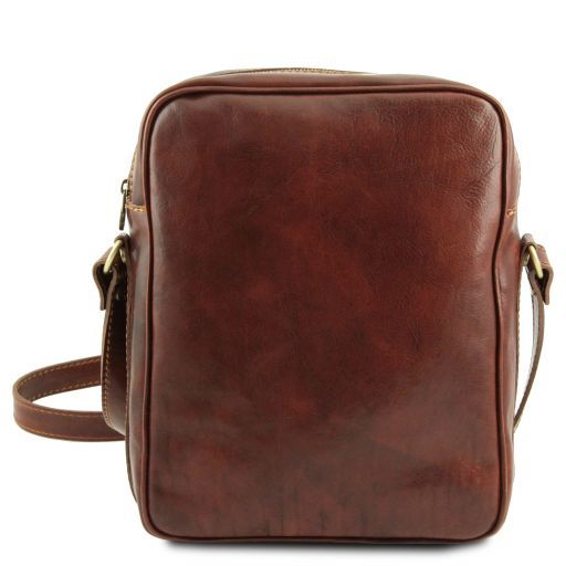Oscar Vegetable Tanned Leather Messenger Bag for Men_3