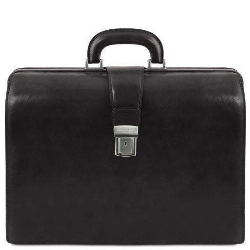 Canova Vegetable Tanned Leather Briefcase 3 compartments_12