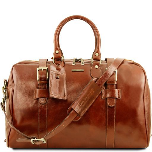 TL Voyager - Leather travel bag with front straps - Large size_12