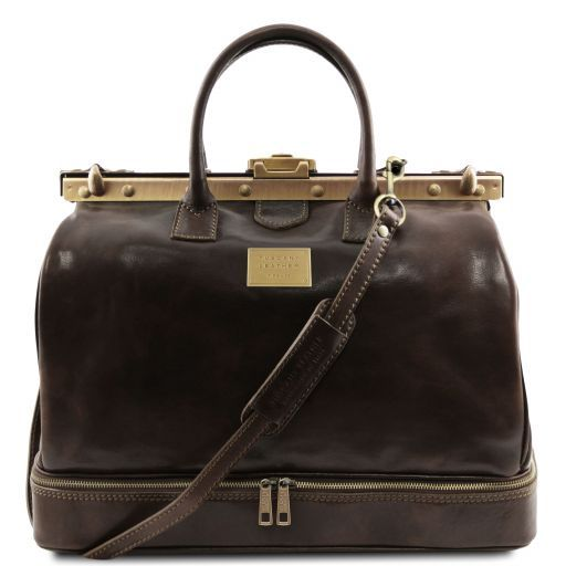 Barcellona - Double-bottom Gladstone Leather Bag_1