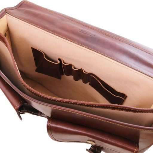 Ancona Vegetable Tanned Leather Messenger Bag_4