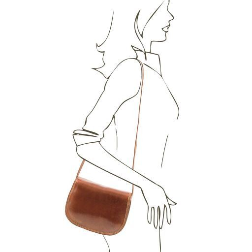 Isabella Vegetable Tanned Leather Shoulder Bag_3