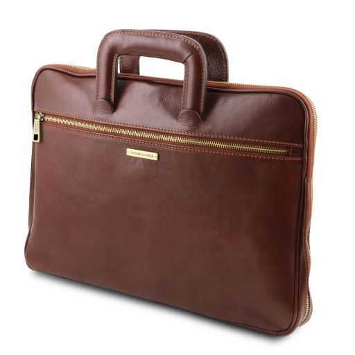 Caserta Vegetable Tanned Leather Leather Briefcase_2