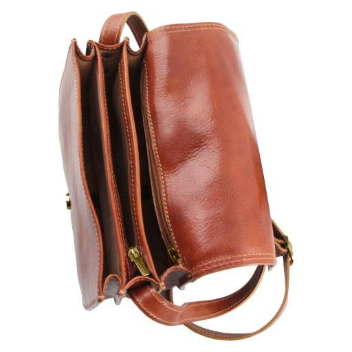 Isabella Vegetable Tanned Leather Shoulder Bag_4