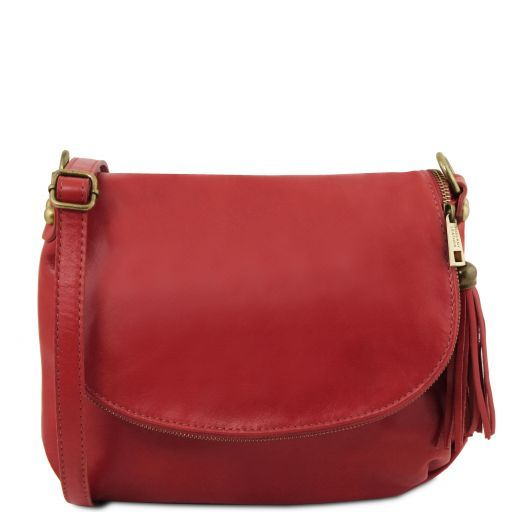 TL Soft Leather Shoulder Bag with Tassel_1