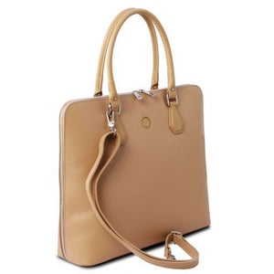 Magnolia Hammered Leather Women Business Bag _2