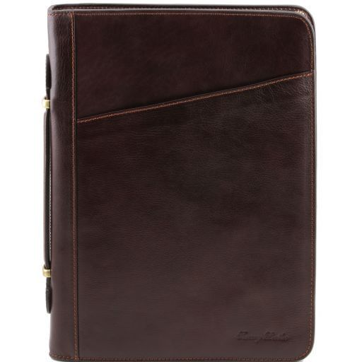 Claudio Vegetable Tanned Leather  Document Case with Handle_9