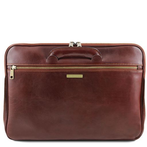 Caserta Vegetable Tanned Leather Leather Briefcase_3