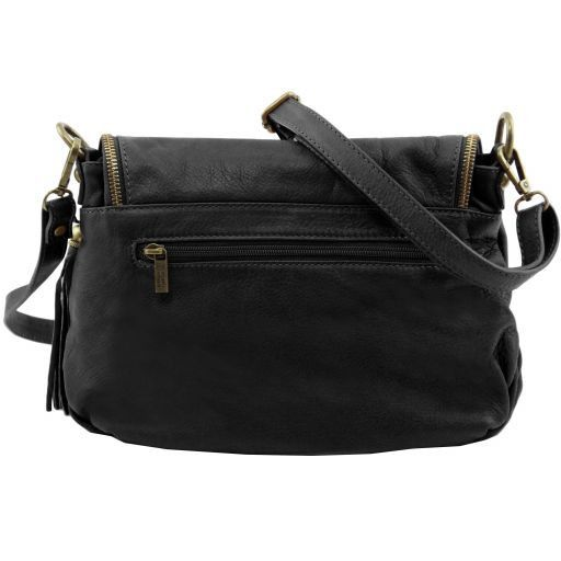 TL Soft Leather Shoulder Bag with Tassel_19