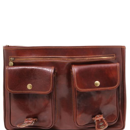 Modena Vegetable Tanned  Leather briefcase - Large size_7