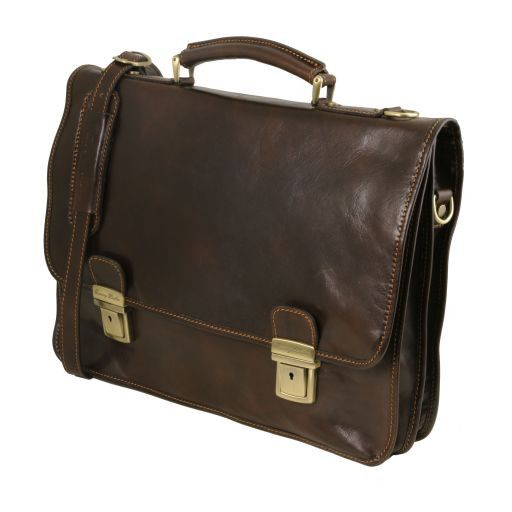 Firenze Vegetable Tanned Leather Briefcase_7