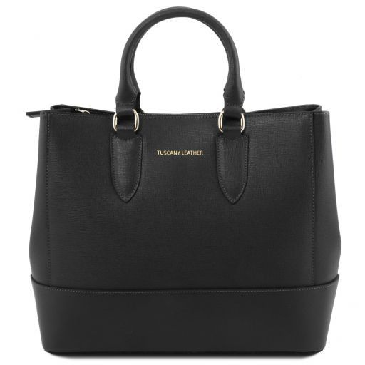 TL Saffiano Leather Satchel _11