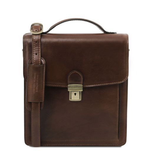 David Vegetable Tanned Leather Messenger Bag for Men - Small size_8