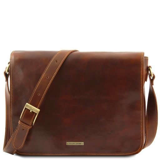 Vegetable Tanned Leather Messenger Bag_10