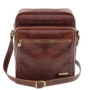 Oscar Vegetable Tanned Leather Messenger Bag for Men_1