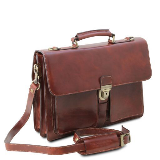 Assisi Vegetable Tanned Leather Briefcase_3