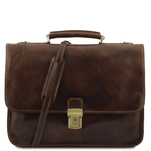 Torino Vegetable Tanned Leather Briefcase_8