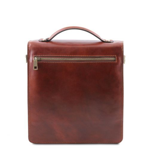David Vegetable Tanned Leather Messenger Bag for Men - Small size_3