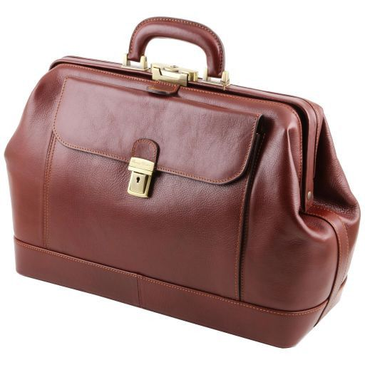 Leonardo Vegetable Tanned Leather Doctor bag_10