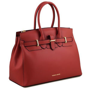 Elettra Smooth Leather Elagent Satchel_2