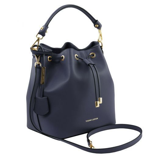 Vittoria Smooth Leather Bucket Bag_8