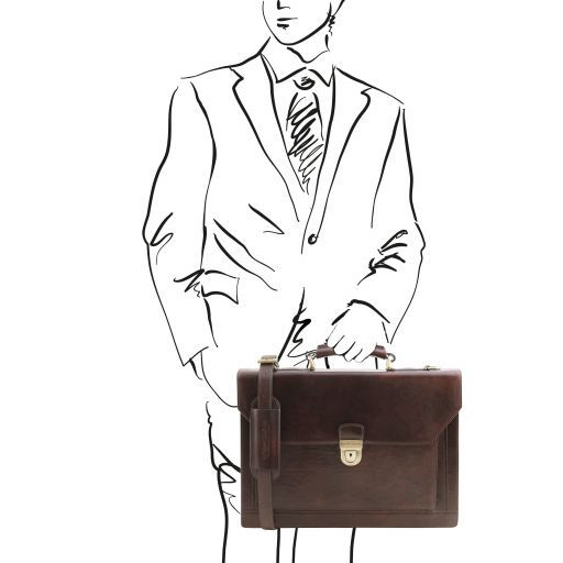 Cremona Vegetable Tanned Leather Briefcase_12