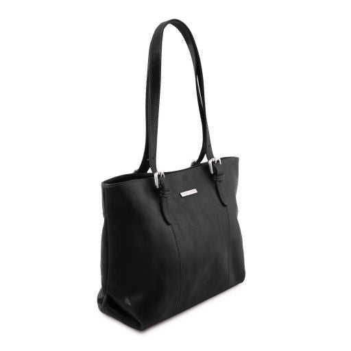 Annalisa Vegetable Tanned Leather Shopping Tote Bag_12