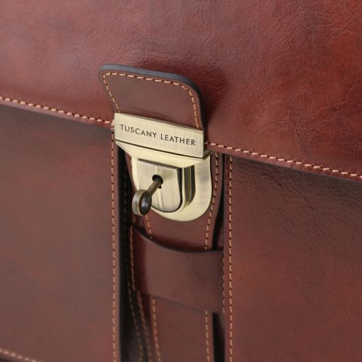 Assisi Vegetable Tanned Leather Briefcase_6