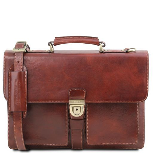 Assisi Vegetable Tanned Leather Briefcase_1